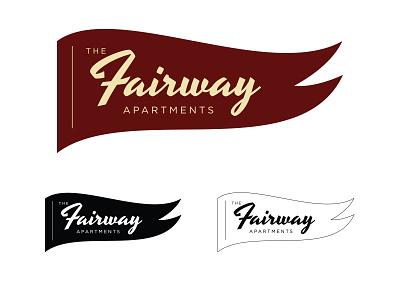 The Fairway Apartments brand branding logo design logo