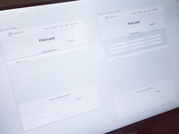 LandCentral Search Page Wireframes