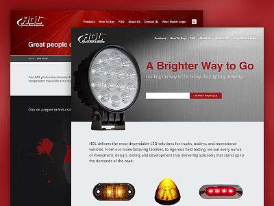 HDL Website UI website web design