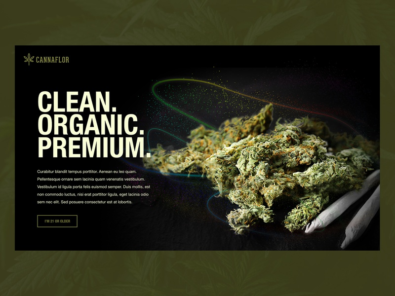 Daily UI 003: Landing Page ui web ui daily ui 003 cannabis website landing page web design daily 100 challenge daily ui