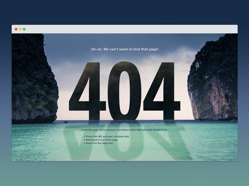 Daily UI 008: 404 page