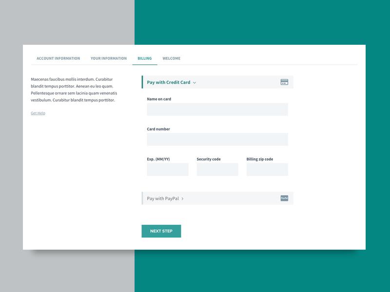 Payment Screen UI payment screen billing screen web design ui