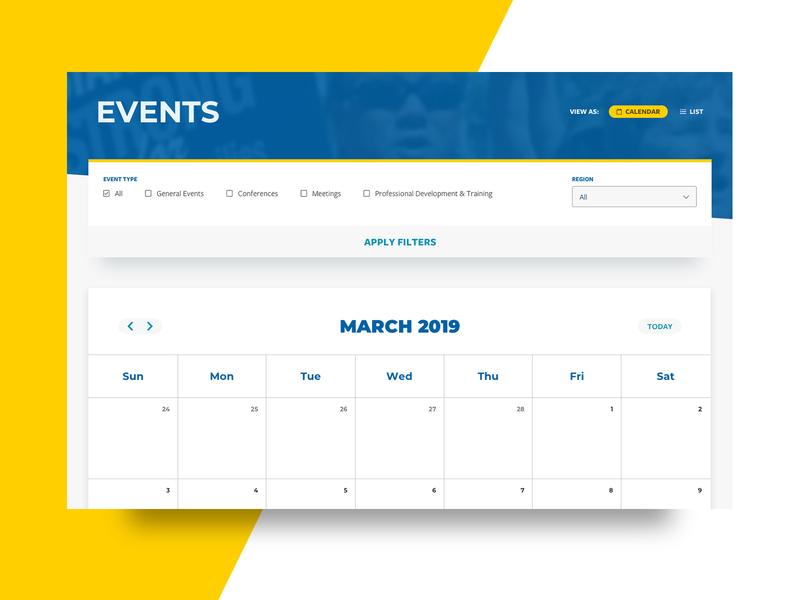 Events Calendar events calendar ui web design