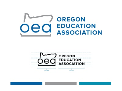 Oregon Education Association logo logo style guide branding and identity brand style guide style guide oregon branding design brand identity logo mark logotype education union logo education logo logo branding logo design