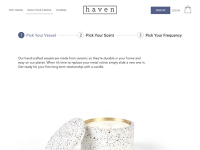 haven Co candle scents scent web development web designer web design visual design cms development cms shopify theme shopify diy candles