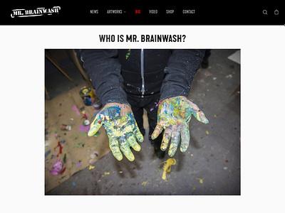 Mr. Brainwash xd photoshop dreamweaver adobe xd cms development web developer