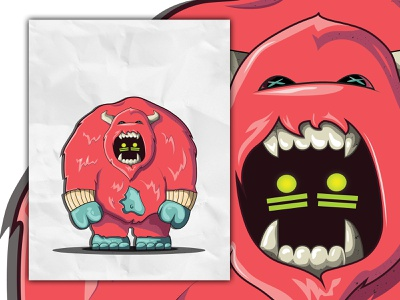 Yeti 2.0 mascot monster yeti designer icon vector design illustration