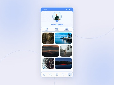 Daily UI Challenge 006 - User Profile application design app challenge dailyui social profile socialmedia uxdesign uidesign user profile user ui