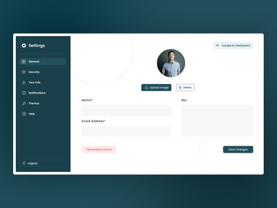 Daily UI Challenge 007 - Settings settings designdaily challenge dailyui uxdesign designui graphic design dashboard ui