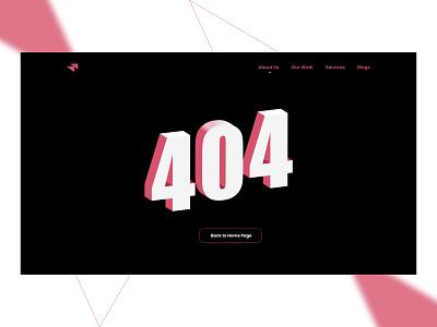 Daily UI Challenge - 008 - 404 design thinking design not found 404 uiux dailyui ui