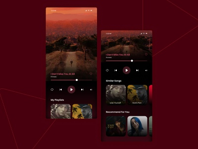 Daily UI Challenge - 009 - Music Player figma design figma learning uiux covers songs day9 mobile device application app uxdesign uidesign music player player music challenge dailyui ui