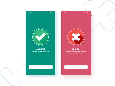 Daily UI challenge - 011 - Flash Message error success signup app message flashmessage flash uiux uidesign dailyui ui