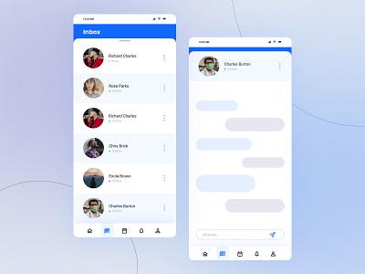 Daily UI Challenge - 013 - Direct Messaging app design application uiux graphic design design user interface ui messaging dm direct messaging challenge dailyui