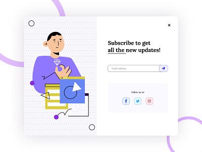 Daily UI Challenge - 016 - Pop-up / Overlay dialogue illustrative illustrations ux uxdesign uidesign minimal modern pop pop up design graphic design ui