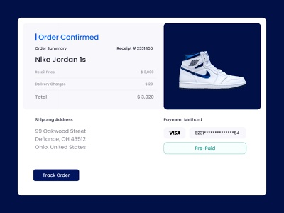 Daily UI Challenge - 017 - Email Receipt graphic design design ux uxdesign uidesign uiux dailyui receipt email receipt email ui