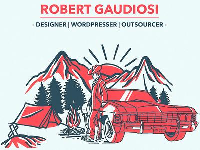Denim Cowboy Illustration fun new jersey outsourcing typography branding logo illustration