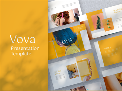 Vova Presentation Template modern minimalist presentation template key pptx interaction graphic design design agency company corporate business keynote google slides powerpoint template presentation