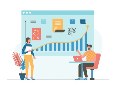 Strategy Planning With Team pattern pastel schedule planning strategy icon landing page presentation startup agency company corporate business mobile app dashboard website flat scene vector illustration