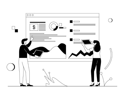 Market Analytic lineart market analysis analysis analytics market icon landing page presentation startup company corporate business mobile app dashboard website flat scene vector illustration