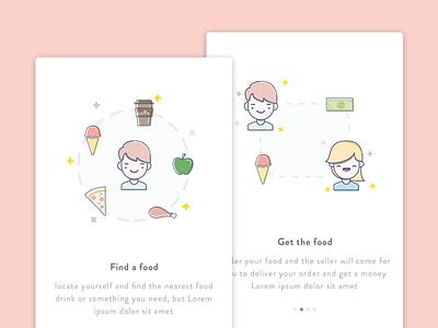 OnBoarding Screen Sembako 1 android vacation sembako design material mobile app illustrator