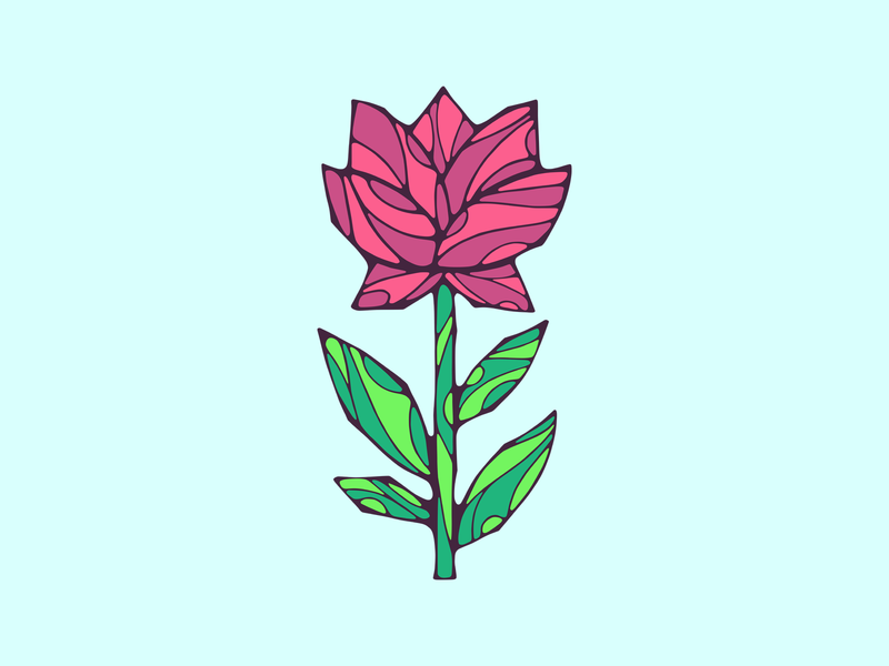 Flower illustration minimal vector shirt design flat design