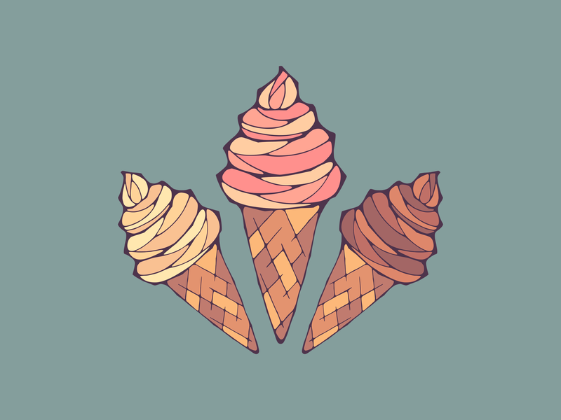 Icecream food illustration ice cream food illustration minimal vector shirt design flat design