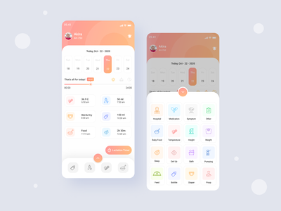 Baby Time Table App UI Concept 😊 top trend 2021 trend 2021 best ui design 2021 best ui design top ui desogn 2021 top ui design child checker ui design baby checker ui design baby checker app design child checker app design baby check ui app design child eating time app design baby eating time ui baby app design child app design child ui app design child app