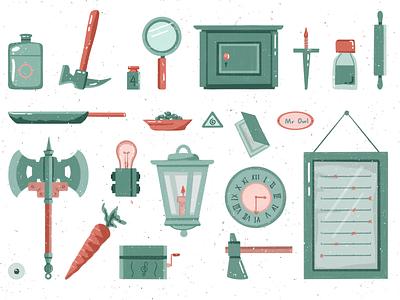 RustyLake3 home kitchen light clock game illustration