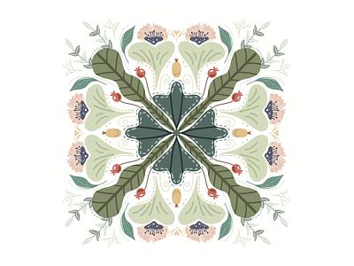 Grandma pattern flower illustration