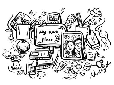 My desktop home illustration