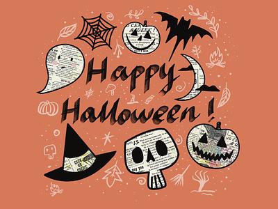 Halloween ghost illustration halloween party halloween