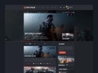 Battlefieldo Site Redesign - Homepage