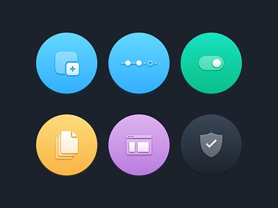 Icons puuurty gradient colors slick icon