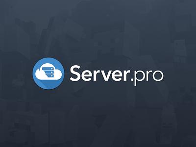 I'm part of the Server.pro team! counter-strike minecraft server cloud design blue job logo