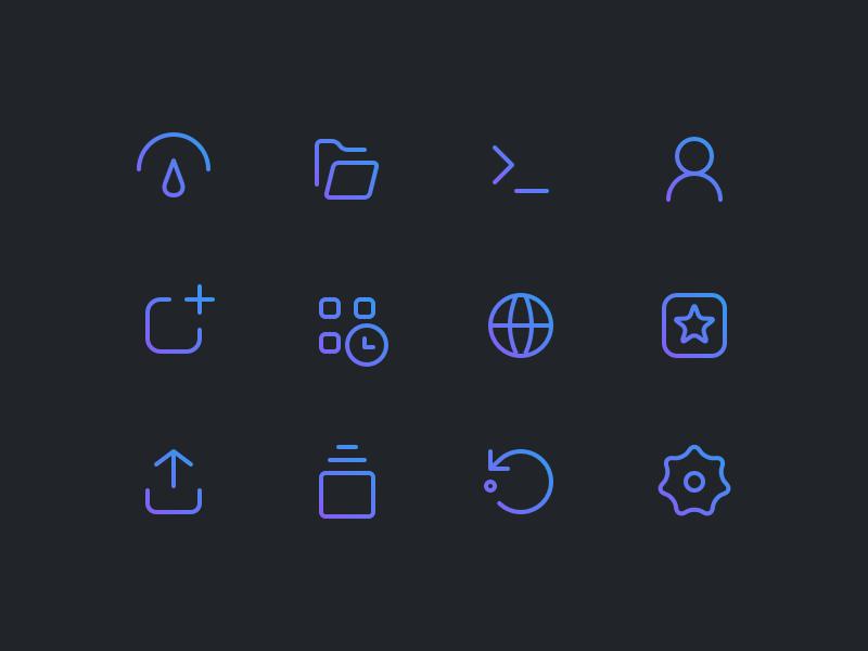 Menu Icons by Michael Sveistrup on Dribbble