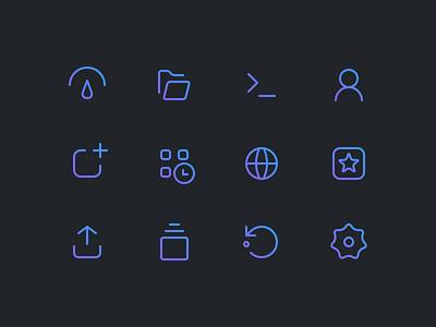 Menu Icons control panel minecraft server stroke outline clean gradient icon