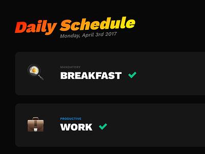 Daily Schedule calendar schedule web clean