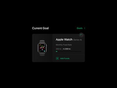 Goals funds apple apple watch ui goals web clean