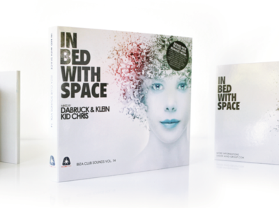 IN BED WITH SPACE Compilation graphic cd artwork cd cover design