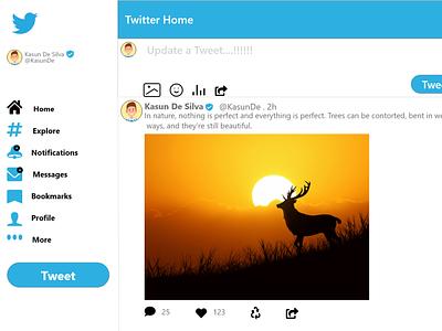 Twitter ui design