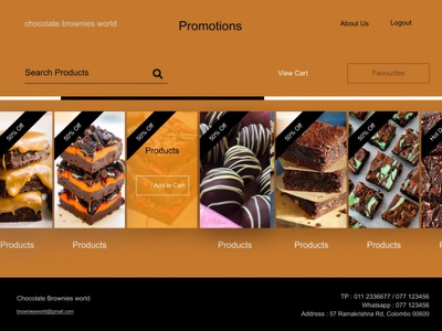 Sweet Selling Website ui design