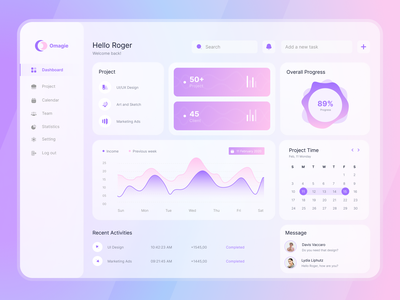 Task Management Dashboard dashboard ui design ux ui task management clean ui ui ux design