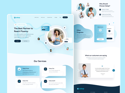 Cakap Landing Page Redesign web ui web design website clean ui uiuxdesign ui webs landingpage