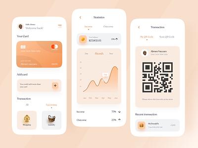 Finance Mobile App app mobile banking statistics barcode uiux finance app ux ui ux design design ui clean ui