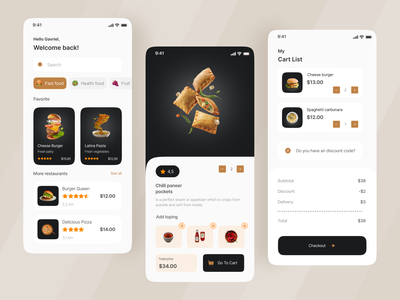 Food Mobile App mobile app design foodie design app food app mobile app food mobile app clean design app mobile ui ux design ui clean ui