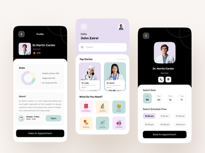 Medical Mobile App health health mobile health app healthcare clean design app mobile app ui ux design design ui clean ui