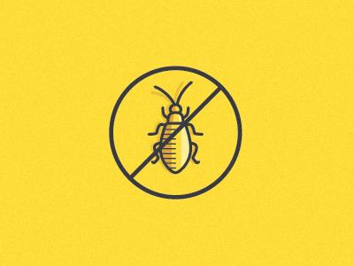 bug defense icon bug vector yellow