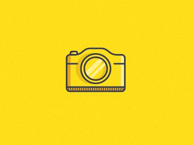 camera icon camera vector yellow