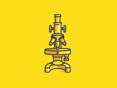 microscope icon science vector yellow