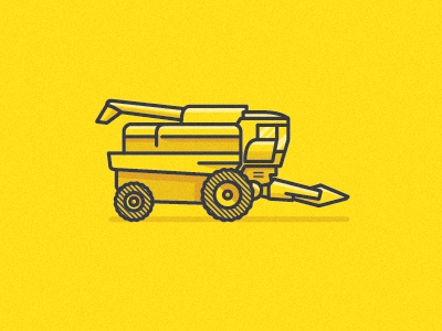 combine icon corn vector yellow
